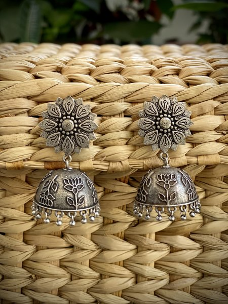 ANTIQUE LOTUS JHUMKA
