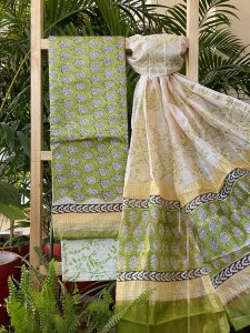 LIGHT GREEN COTTON SUIT SET